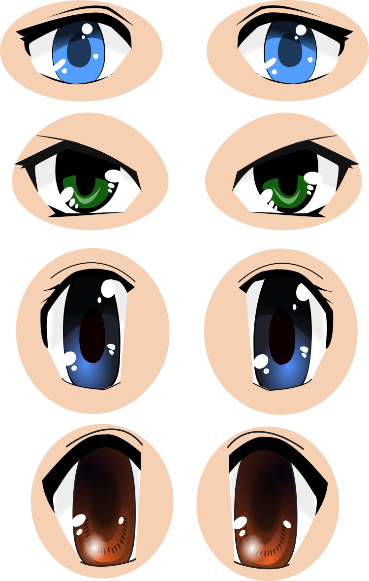 750x1179 Anime Eyes Svg Vector Images (Cc 4.0 By)