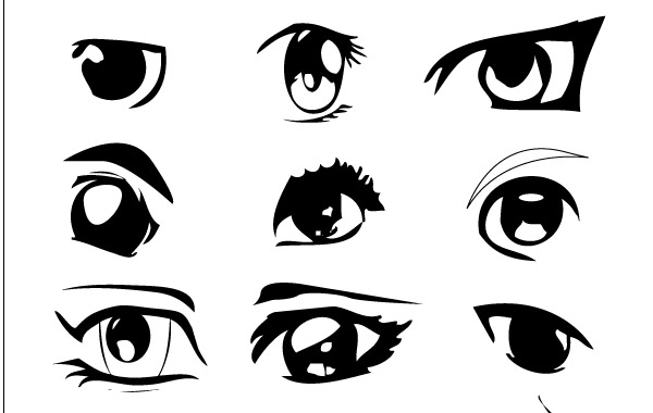 600x380 Anime Eyes Vector Free Download