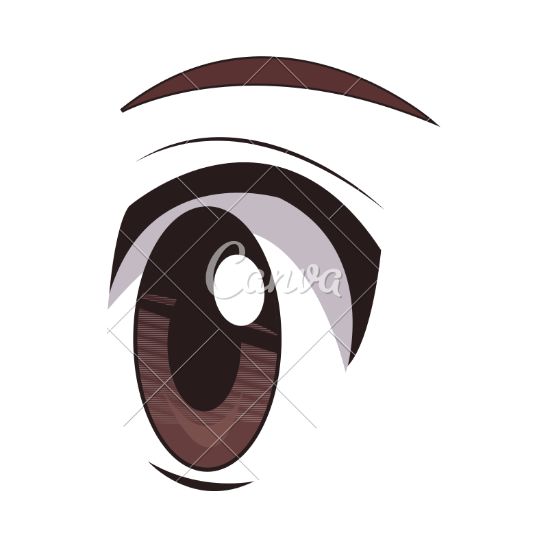 800x800 Anime Eyes Vector Illustration