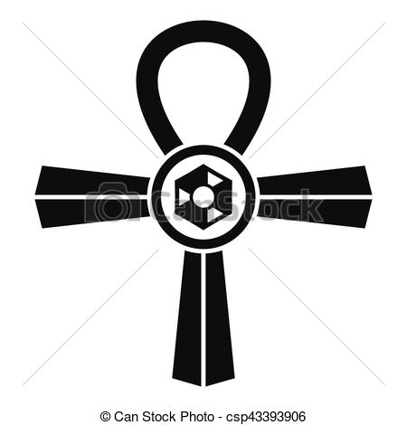 450x470 Egypt Ankh Symbol Icon, Simple Style. Egypt Ankh Symbol Icon