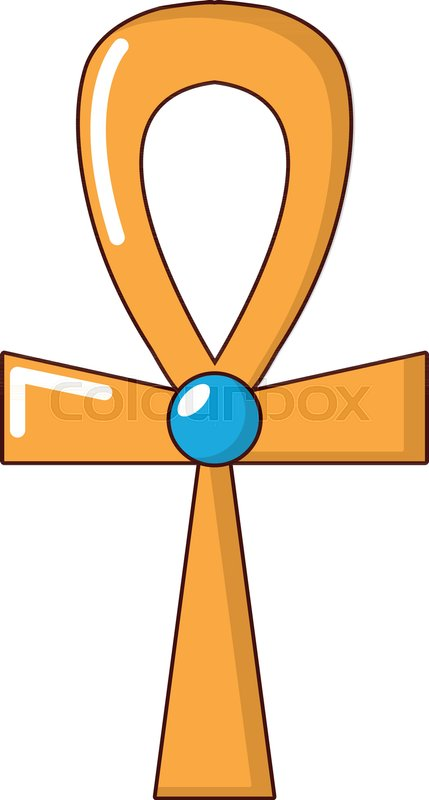 429x800 Egyptian Ankh Icon. Cartoon Illustration Of Egyptian Ankh Vector