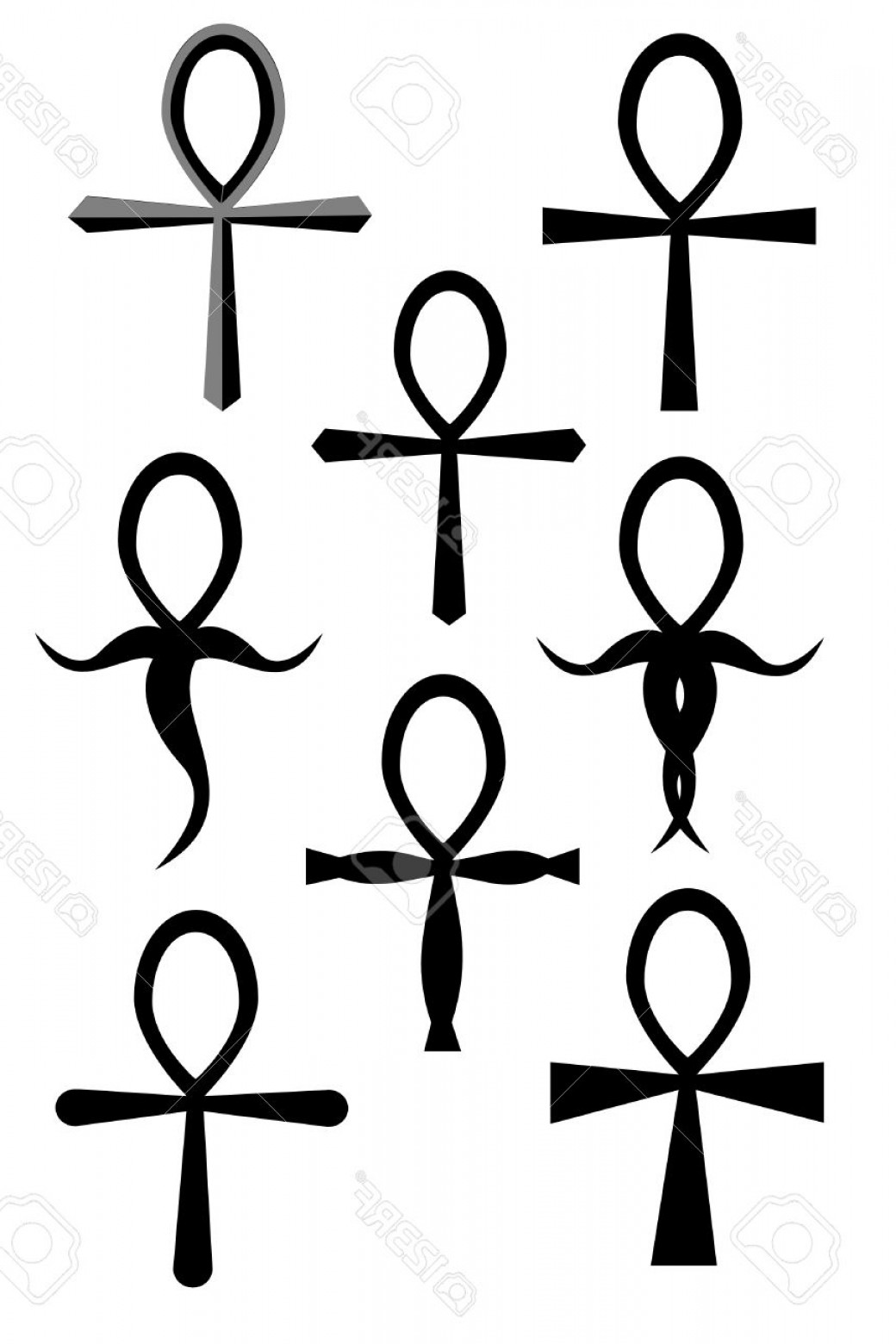 1040x1560 Gothic Ankh Vector Drawing Arenawp