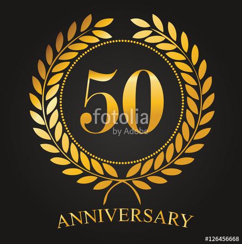 497x500 50 Years Anniversary Golden Label