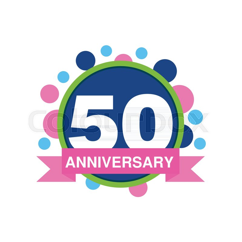 800x800 50th Anniversary Colored Logo Design, Happy Holiday Festive