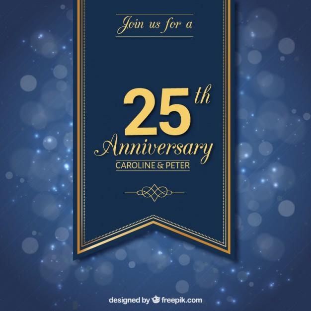 626x626 Twenty Fifth Anniversary Ribbon Vector Free Download