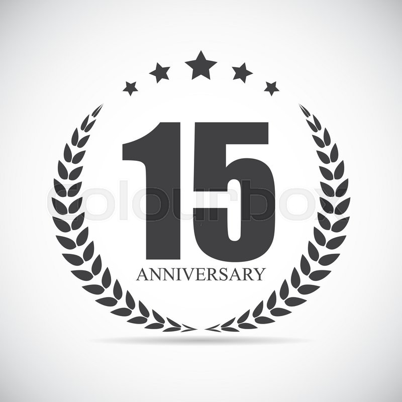 800x800 Template Logo 15 Years Anniversary Vector Illustration Eps10