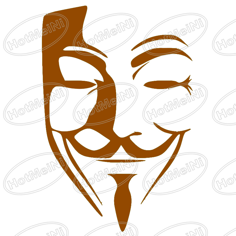 800x800 Anonymous Mask Vector Image Car Window Sticker Vinyl Decal Funny