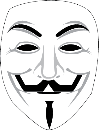 320x421 Anonymous Mask Vector By Furbydesign