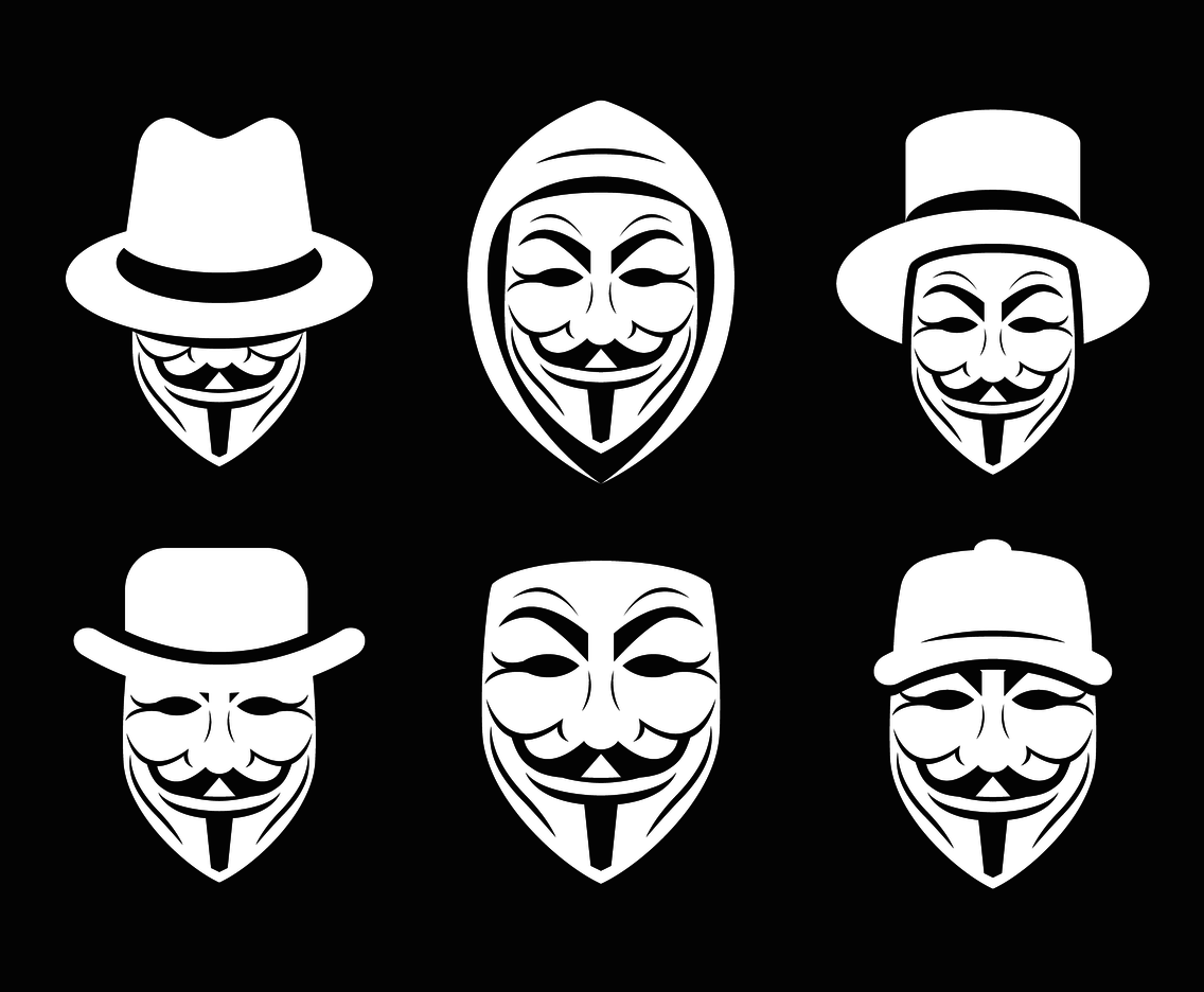 1136x936 Anonymous Mask With Hat Vector Vector Art Amp Graphics