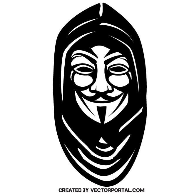 660x660 Anonymous Mask With Hoodie Vector Illustration People Free