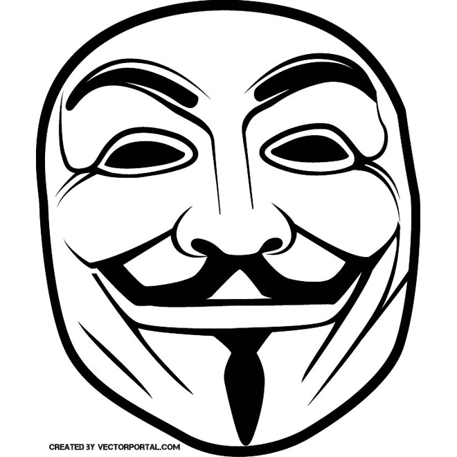 660x660 Guy Fawkes Anonymous Mask Vector
