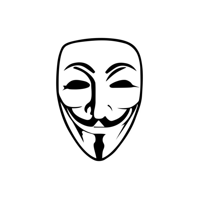 690x690 Guy Fawkes Anonymous Mask Graphics Design Svg By Vectordesign