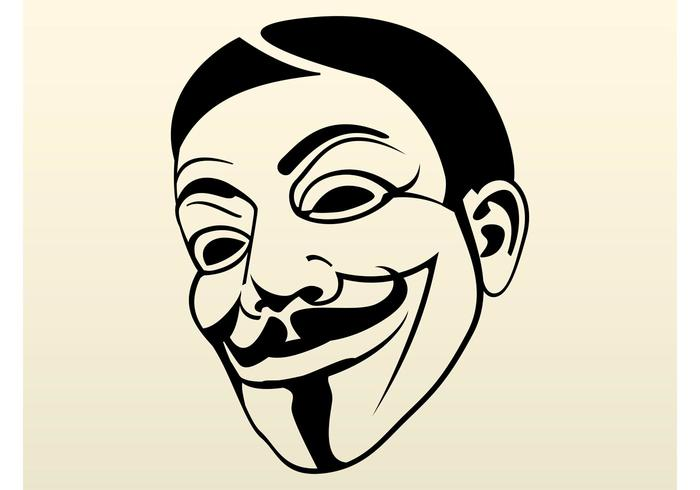 700x490 Guy Fawkes Mask Free Vector Art