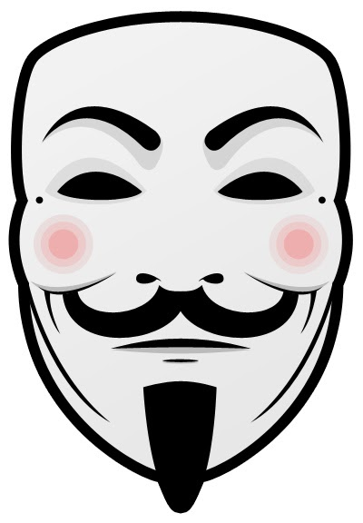 400x576 You Are Anonymous Guy Fawkes Mask (.psd)