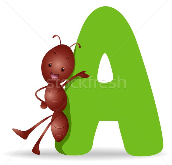 600x575 A For Ant Vector Illustration Lenm ( 461107) Stockfresh