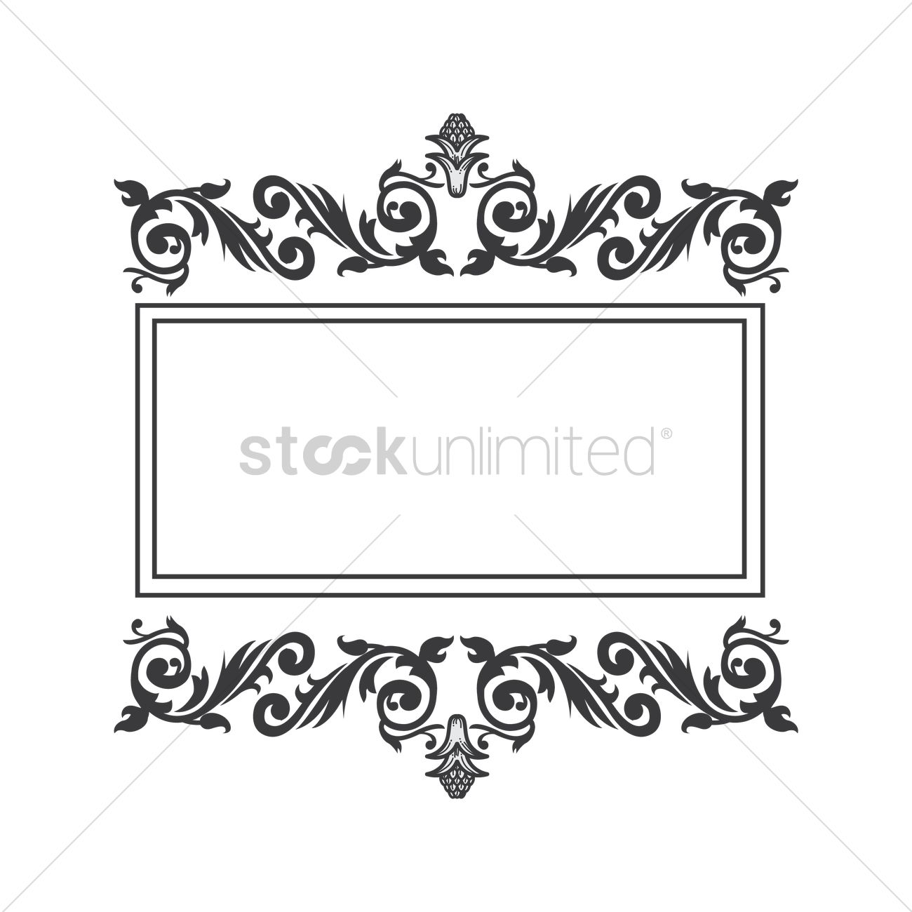 1300x1300 Free Antique Frame Vector Image