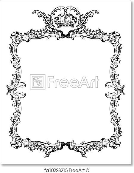 450x580 Free Art Print Of Decorative Vintage Ornate Frame. Vector
