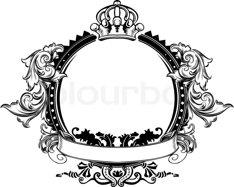 800x642 One Color High Ornate Vintage Frame Stock Vector Colourbox