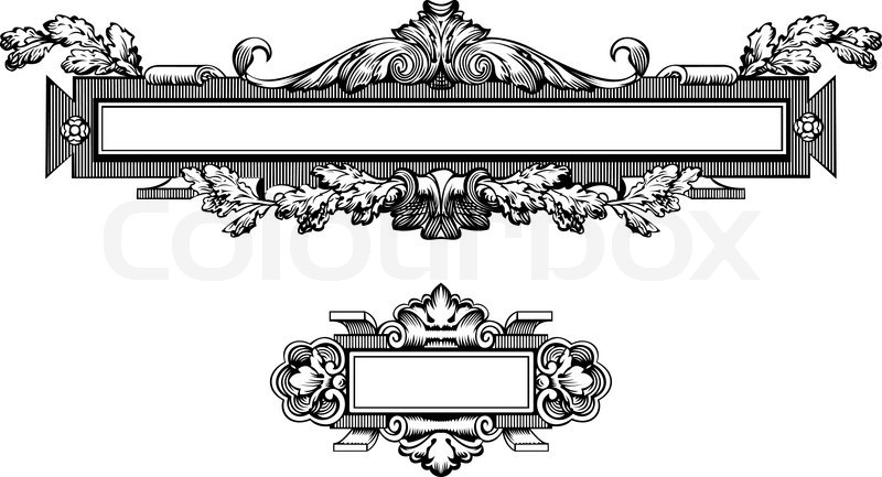 800x433 Antique Frame Engraving, Scalable And Editable Vector Illustration