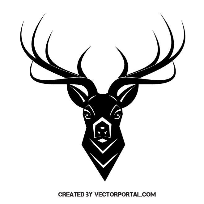 660x660 Deer Antlers Vector