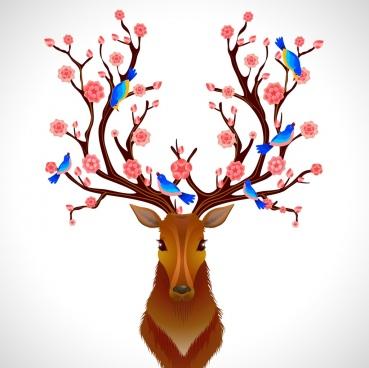 369x368 Deer Antler Vector Free Vector Download (316 Free Vector) For