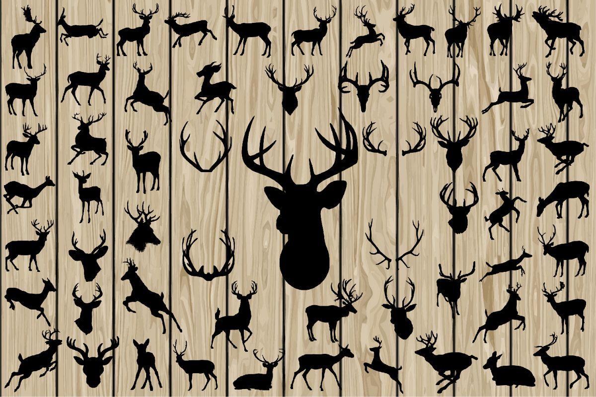 1200x800 60 Deer Svg, Deer Eps, Deer Vector, Deer Silhouette Clipart, Deer