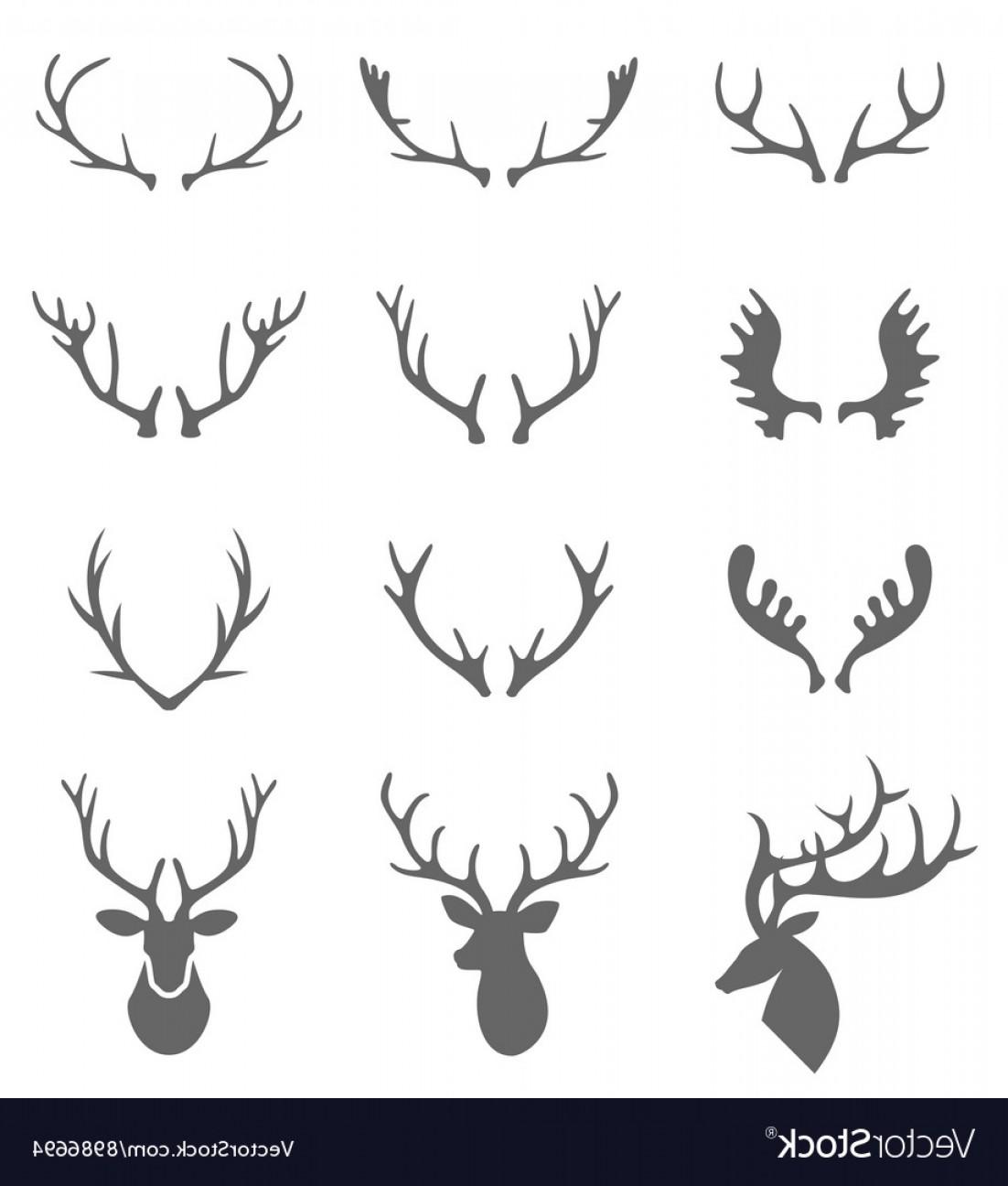 1102x1296 Hand Drawn Deer Antlers Vector Arenawp