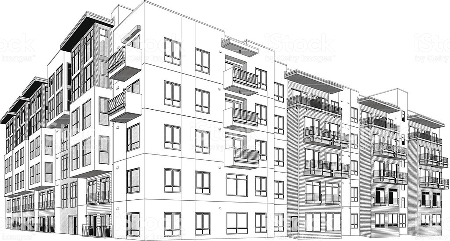 900x482 Download Apartment Building Vector Clipart Apartment Building