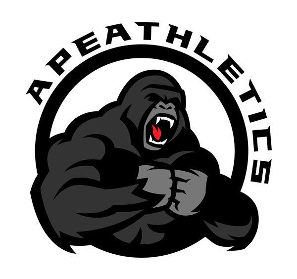 600x564 Ape Athletics Identity Logos In 2018 Logos, Vector