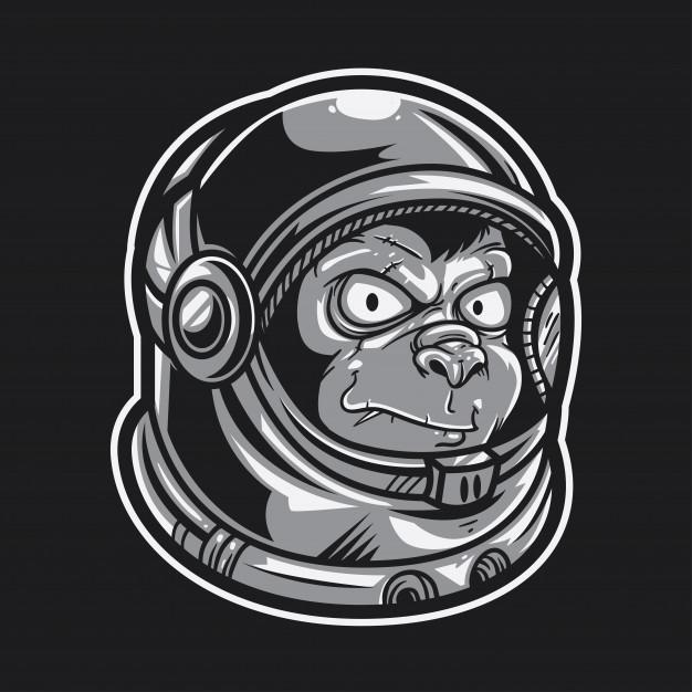 626x626 Ape Astronaut Vector Premium Download