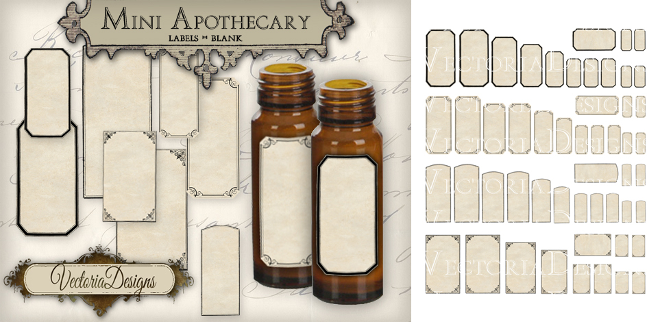 image about Free Printable Vintage Apothecary Labels titled Apothecary Labels Vector at  Totally free for