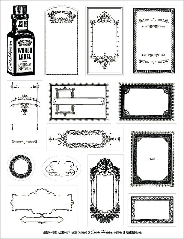 614x794 Free Downloadable Apothecary Labels Nice Vintage Label Templates