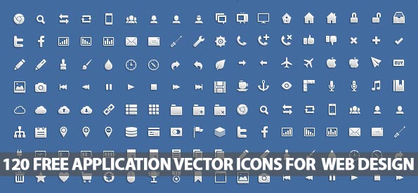595x275 120 Free Application Vector Icons For Web Designers Icons