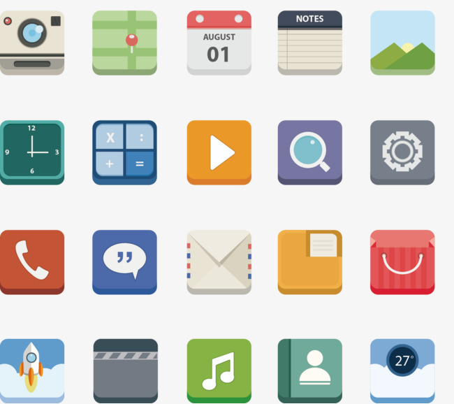 650x578 Vector Painted Phone App Icon Collection, Phone Vector, Icon