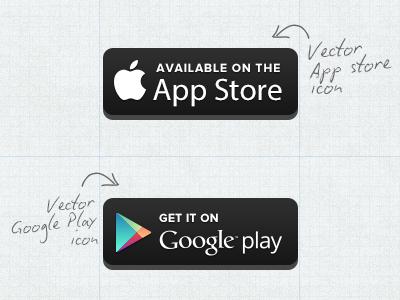 400x300 Free Vector Appstoregoogleplay Button By Carter Digital (Via