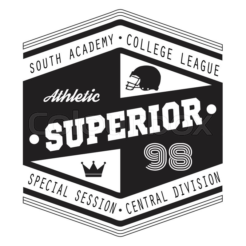 800x800 Sport Athletic Superior College Vector Graphics And Typography T