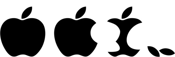 600x197 Eaten Apple Logo Vector Free Vector In Adobe Illustrator Ai ( .ai