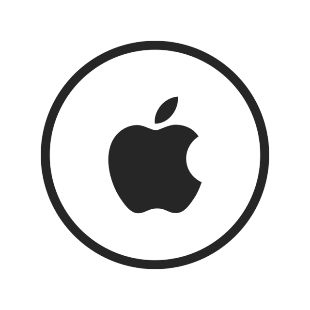 640x640 Apple Icon, Apple, Black, White Png And Vector For Free Download