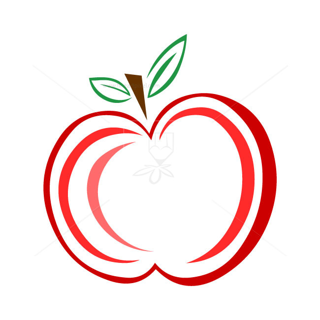 650x650 Red Apple Logo Vector Free Vectors, Illustrations, Graphics