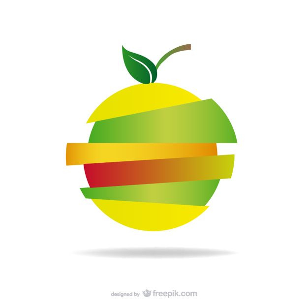 626x626 Sliced Apple Logo Vector Free Download