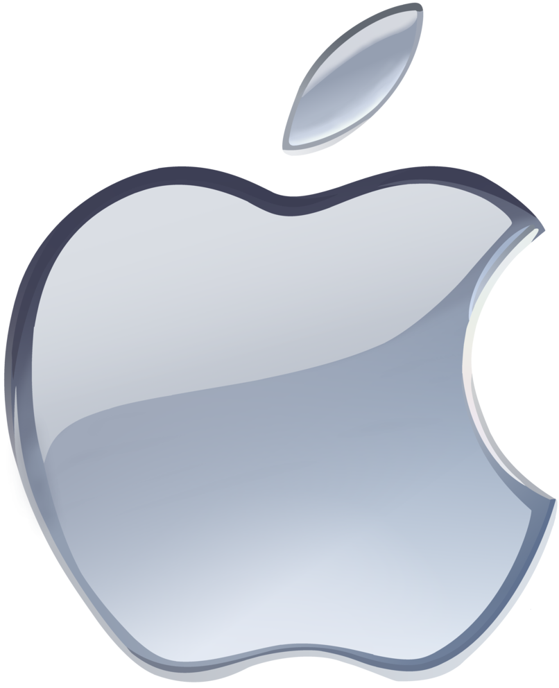 806x992 Late Gift)silver Apple Logo Vector(1) By Windytheplaneh