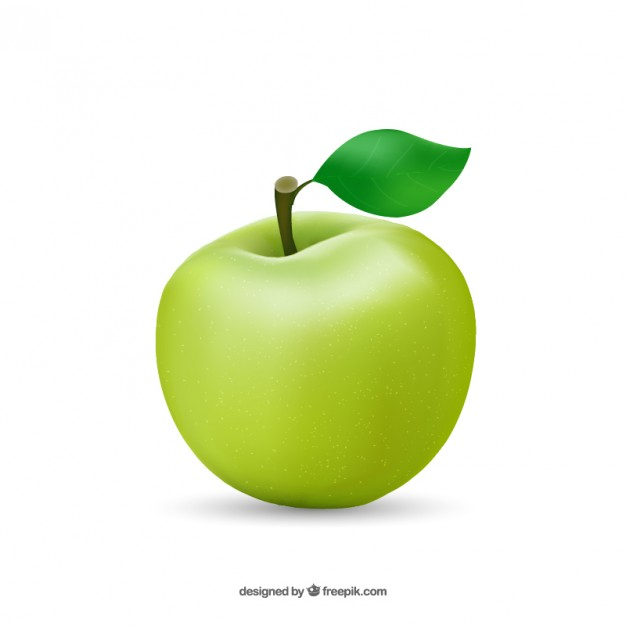 626x626 Healthy Apple Vector Free Download
