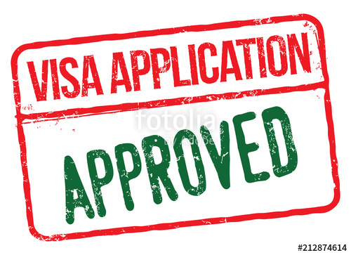 500x363 Visa Application Approved. Vector Rubber Stamp. Stock Image And