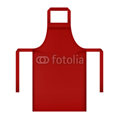 400x400 Red Apron Mockup. Realistic Illustration Of Red Apron Vector