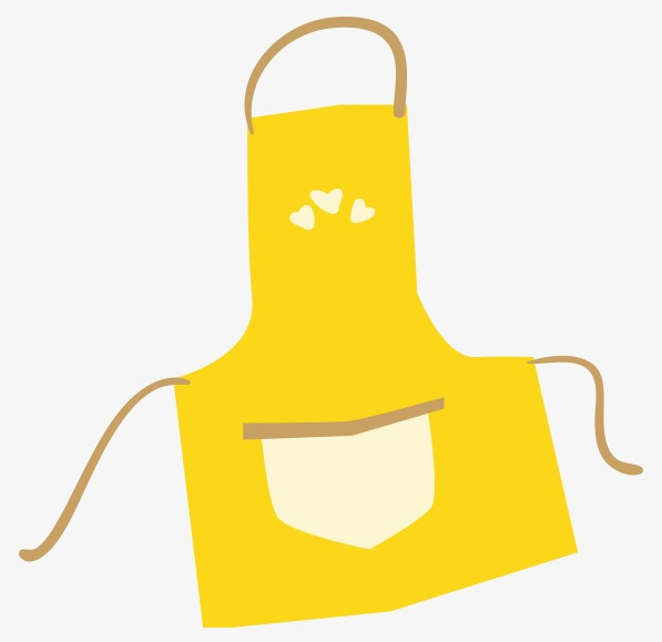 597x579 Vector Yellow Aprons, Vector, Flat, Painting Png And Vector For