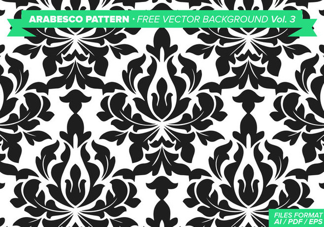 632x443 Arabesco Pattern Free Vector Background Vol. 3 Download De Vetor
