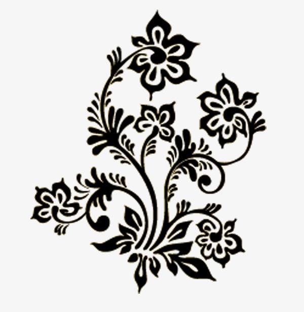 600x615 Arabesco Vetor O Sombreamento Flores Preto Png E Vetor Para
