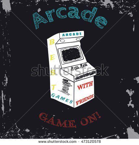 450x470 Arcade Vector, Arcade Vintage, Arcade Retro, Arcade Game, Arcade
