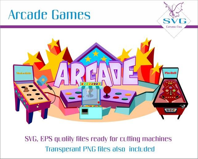 642x514 Arcade Games Clipart Wack A Mole Game Svg Pin Ball Vector Etsy