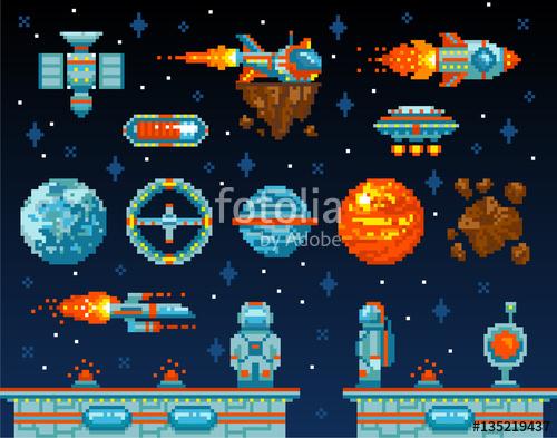 500x393 Pixel Art. Vintage Game Design Interface. Arcade Game Elements